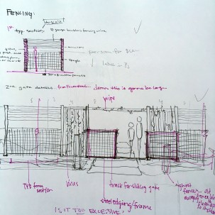 Sketching entrance gates